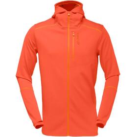 Norrøna M's Trollveggen Warm/Wool1 Zip Hoodie Burnt Orange